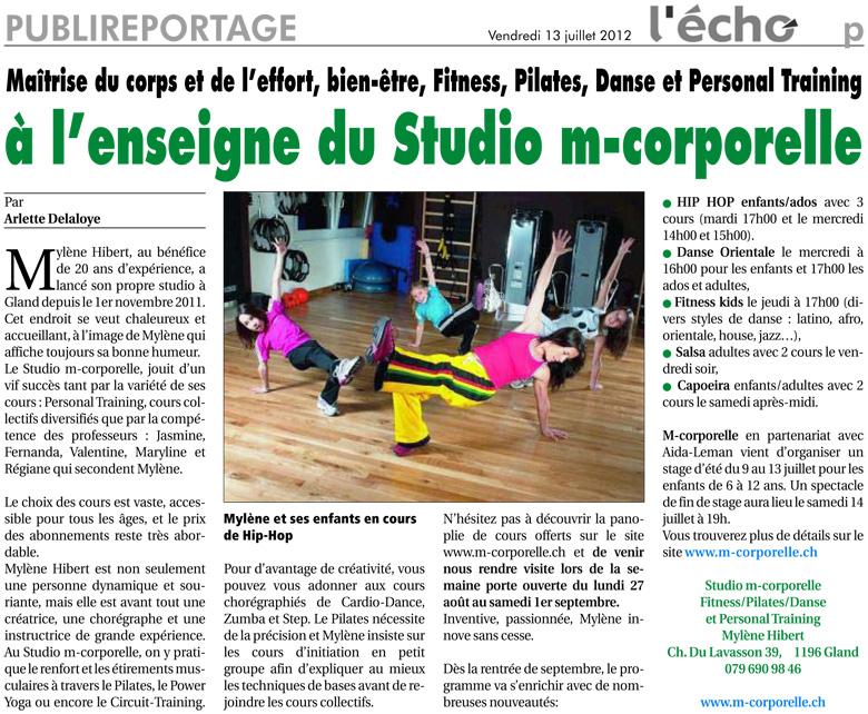 Publireportage Echo Rollois – 13 Juillet 2012